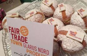Fairtradeschild mit Brot