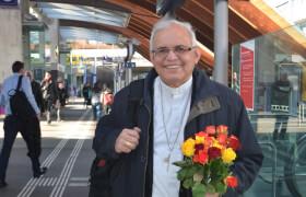 Bischof Alvaro Ramazzini bei einem Besuch in Bern. Bild: Colette Kalt/ Fastenopfer