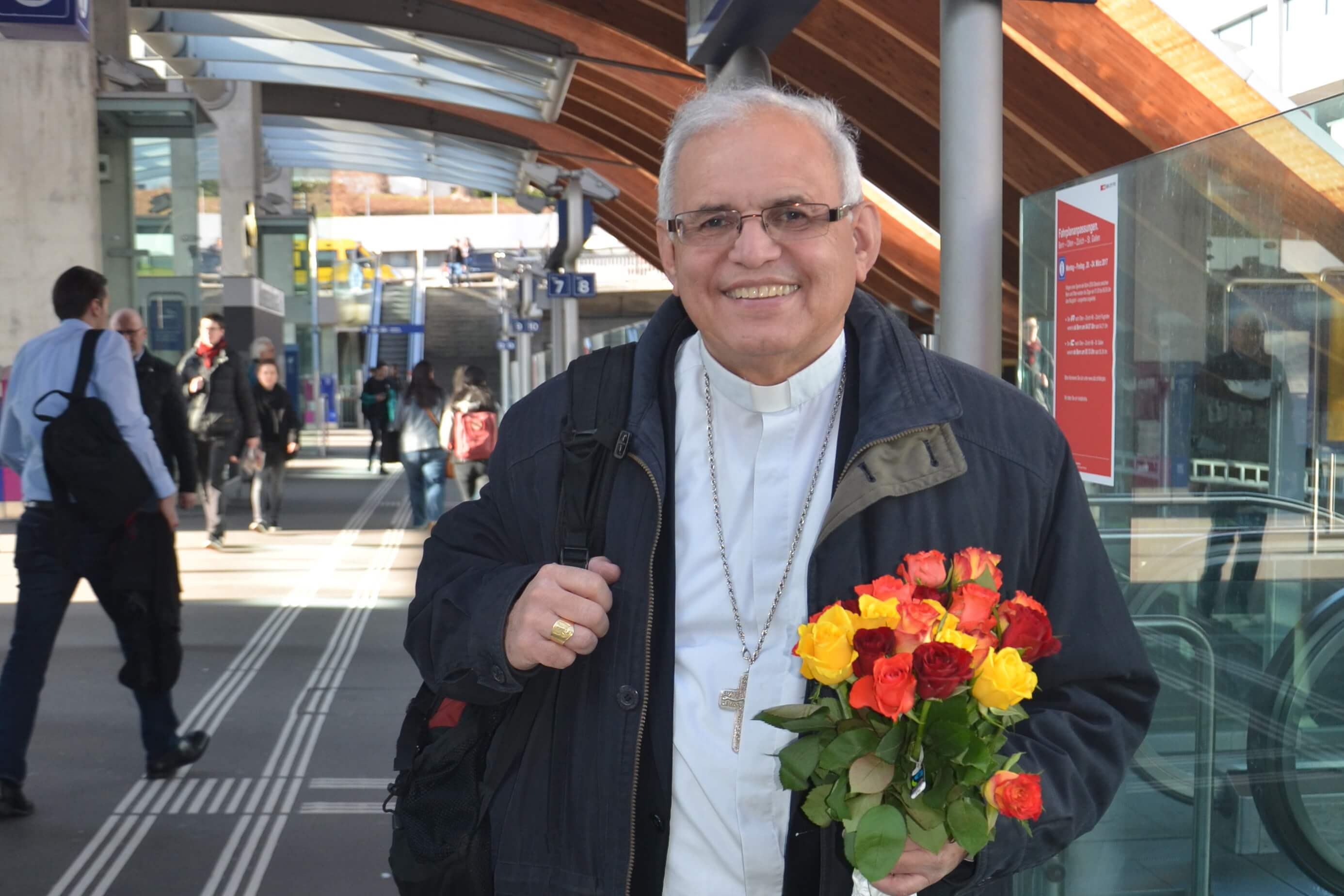 Bischof Alvaro Ramazzini, der unermüdliche Kämpfer für die Menschenrechte zu Besuch in Bern. Bild: Colette Kalt/ Fastenopfer