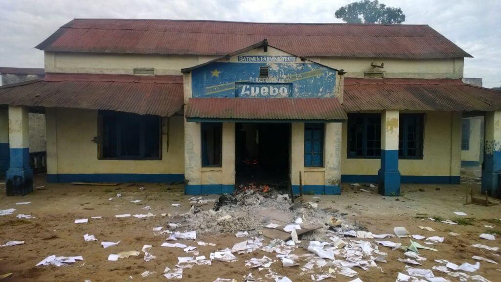 Ein lokales Amtsgebäude in Luebo. © Fastenopfer