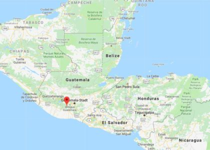 Guatemala, der Staat in Zentralamerika im Süden der Halbinsel Yucatán.