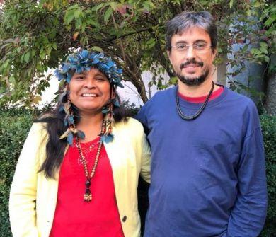 Ernestina Macuxi, Indigenenvertreterin, und Luis Ventura Vertreter unserer Partnerorganisation CIMI, Bild: Fastenopfer