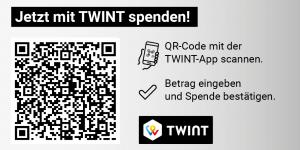 TWINT-Code für eine allgemeine Spende für Fastenopfer im Querformat.