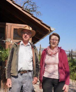 Ôthmar Küttel mit seiner Frau, Horw bei Luzern