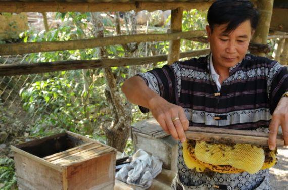 Ein typisches Dorf in den Bergen im Norden von Laos