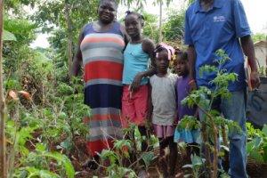 Haiti: Familie, die Agrarökologie betreibt