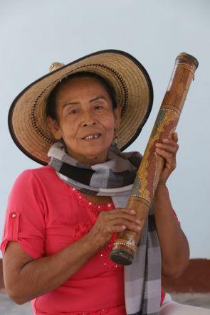 Frau aus dem Projekt Grupo Semillas in Kolumbien.