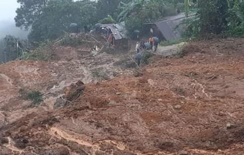 Zerstörung der Felder durch Tropensturm Eta. Foto: Caritas Verapaz 2020