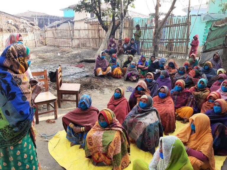 Ein Netzwerk-Treffen zu Frauengesundheit In Chakarghatta/Sarlahi. Foto: Fastenopfer / WRRP